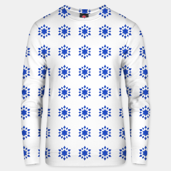 Thumbnail image of Communication Wealth Amulet Blue Pattern Unisex sweater, Live Heroes