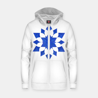 Communication Wealth Amulet Blue Zip up hoodie thumbnail image