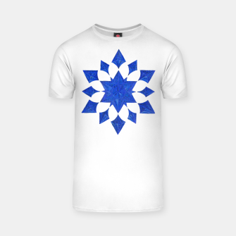 Thumbnail image of Communication Wealth Amulet Blue T-shirt, Live Heroes