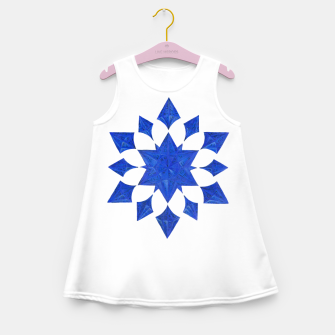 Miniatur Communication Wealth Amulet Blue Girl's summer dress, Live Heroes