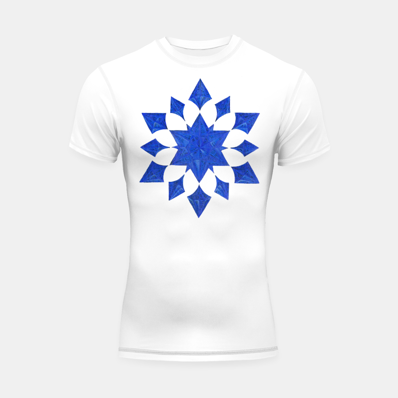 Image of Communication Wealth Amulet Blue Shortsleeve rashguard - Live Heroes