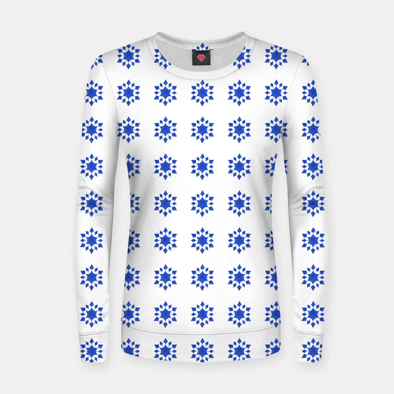Image of Communication Wealth Amulet Blue Pattern Women sweater - Live Heroes