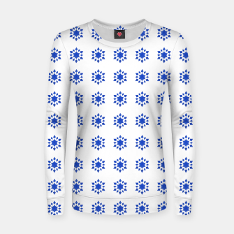 Miniatur Communication Wealth Amulet Blue Pattern Women sweater, Live Heroes