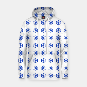 Thumbnail image of Communication Wealth Amulet Blue Pattern Hoodie, Live Heroes