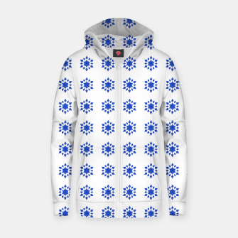 Thumbnail image of Communication Wealth Amulet Blue Pattern Zip up hoodie, Live Heroes