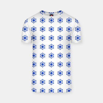 Thumbnail image of Communication Wealth Amulet Blue Pattern T-shirt, Live Heroes