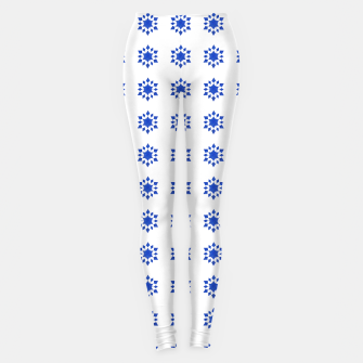 Miniatur Communication Wealth Amulet Blue Pattern Leggings, Live Heroes