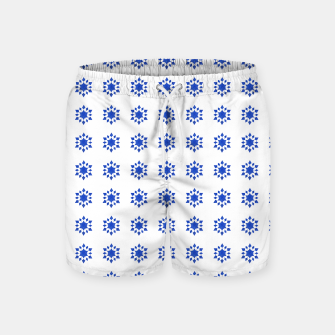 Thumbnail image of Communication Wealth Amulet Blue Pattern Swim Shorts, Live Heroes