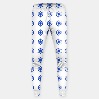 Miniatur Communication Wealth Amulet Blue Pattern Sweatpants, Live Heroes