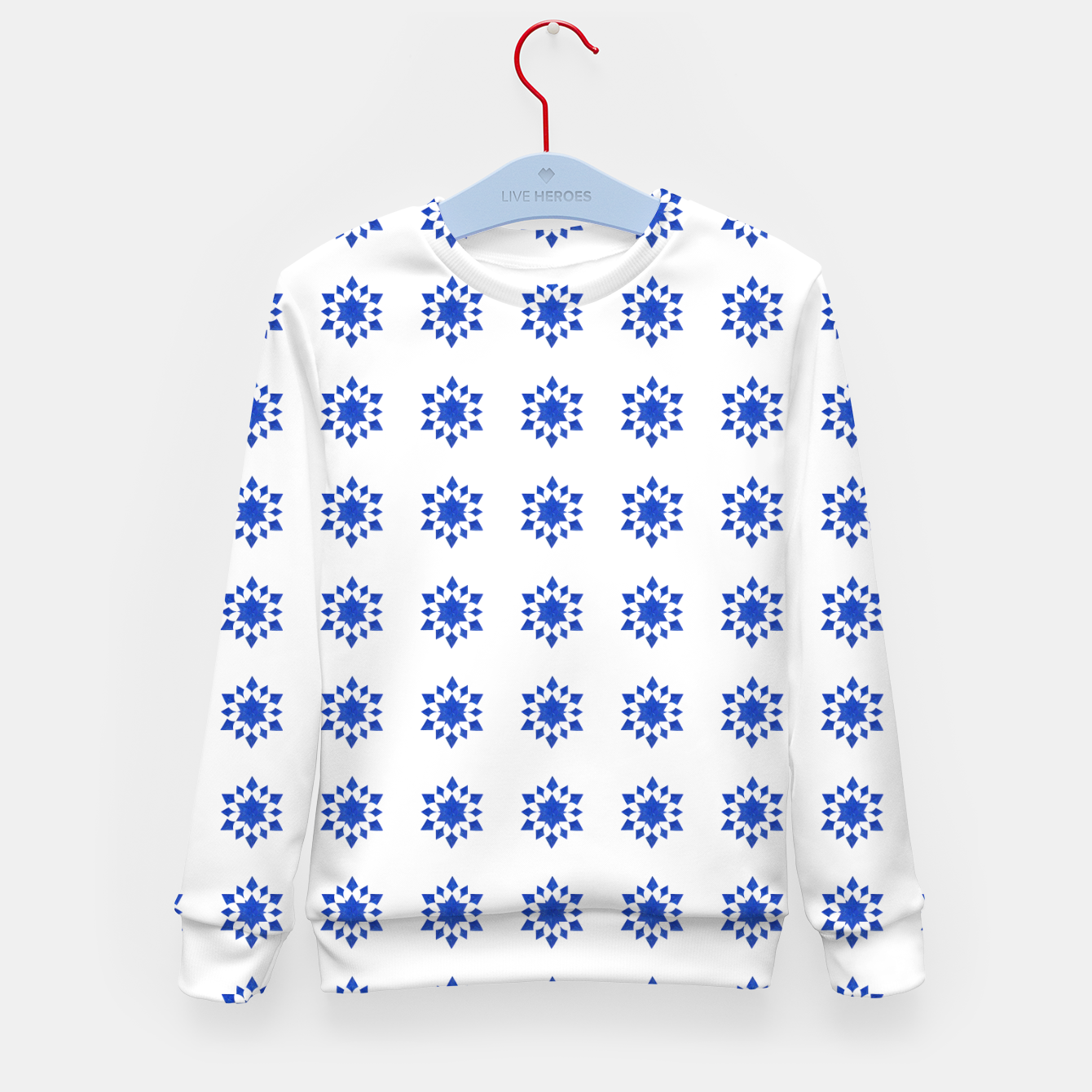 Image of Communication Wealth Amulet Blue Pattern Kid's sweater - Live Heroes