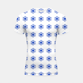 Thumbnail image of Communication Wealth Amulet Blue Pattern Shortsleeve rashguard, Live Heroes