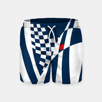 Thumbnail image of Racing Heart Swim Shorts, Live Heroes