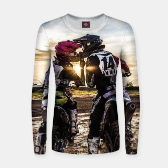 Thumbnail image of Motocross Racing Mx Women sweater, Live Heroes
