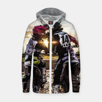Thumbnail image of Motocross Racing Mx Zip up hoodie, Live Heroes