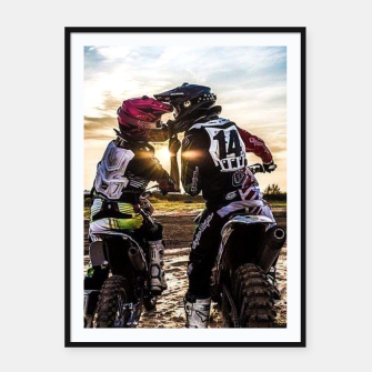 Thumbnail image of Motocross Racing Mx Framed poster, Live Heroes
