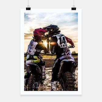 Thumbnail image of Motocross Racing Mx Poster, Live Heroes