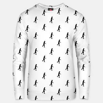 Thumbnail image of Skating Motif Graphic Silhouette Print Pattern Unisex sweater, Live Heroes