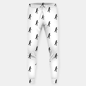 Thumbnail image of Skating Motif Graphic Silhouette Print Pattern Sweatpants, Live Heroes