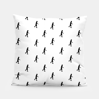 Skating Motif Graphic Silhouette Print Pattern Pillow Bild der Miniatur