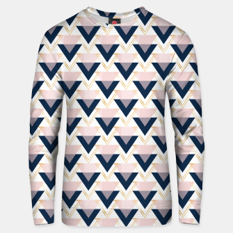 Miniatur Blue gold and pink triangles pattern Unisex sweater, Live Heroes
