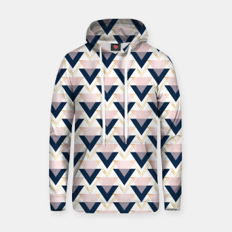 Miniatur Blue gold and pink triangles pattern Hoodie, Live Heroes