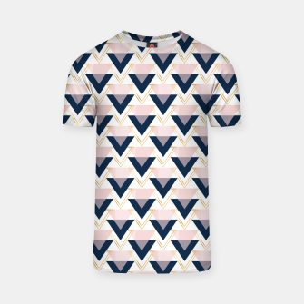 Miniatur Blue gold and pink triangles pattern T-shirt, Live Heroes