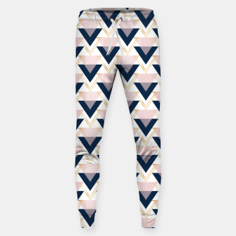 Miniatur Blue gold and pink triangles pattern Sweatpants, Live Heroes