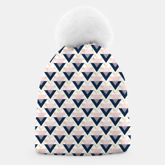 Miniatur Blue gold and pink triangles pattern Beanie, Live Heroes
