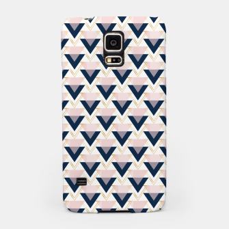 Miniatur Blue gold and pink triangles pattern Samsung Case, Live Heroes