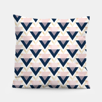 Miniatur Blue gold and pink triangles pattern Pillow, Live Heroes