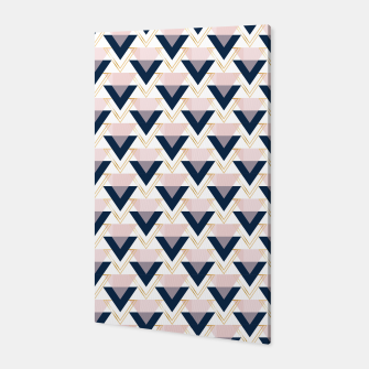 Miniaturka Blue gold and pink triangles pattern Canvas, Live Heroes