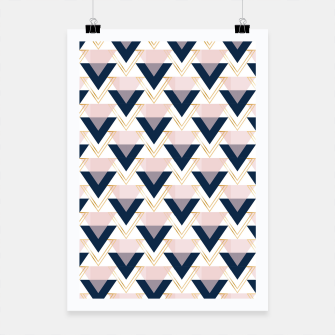 Miniature de image de Blue gold and pink triangles pattern Poster, Live Heroes