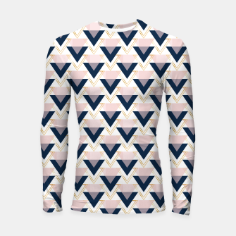 Miniatur Blue gold and pink triangles pattern Longsleeve rashguard , Live Heroes