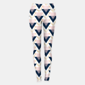 Miniaturka Blue gold and pink triangles pattern Leggings, Live Heroes