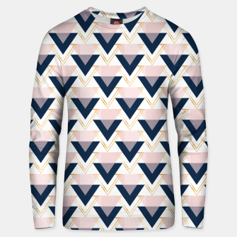 Miniaturka Blue gold and pink triangles pattern Unisex sweater, Live Heroes