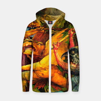 Matthias Grünewald-The Temptation of St Anthony Zip up hoodie obraz miniatury