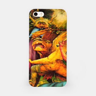 Matthias Grünewald-The Temptation of St Anthony iPhone Case obraz miniatury
