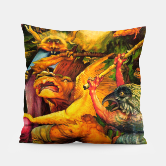 Matthias Grünewald-The Temptation of St Anthony Pillow obraz miniatury