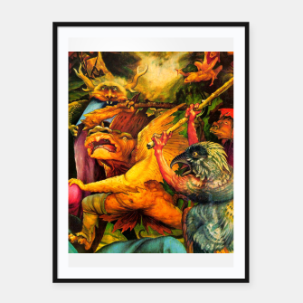 Miniaturka Matthias Grünewald-The Temptation of St Anthony Framed poster, Live Heroes