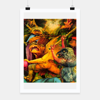 Miniaturka Matthias Grünewald-The Temptation of St Anthony Poster, Live Heroes