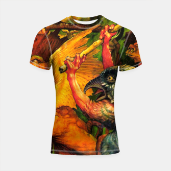 Matthias Grünewald-The Temptation of St Anthony Shortsleeve rashguard obraz miniatury