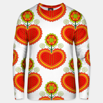 Thumbnail image of Folklore heart Unisex sweater, Live Heroes