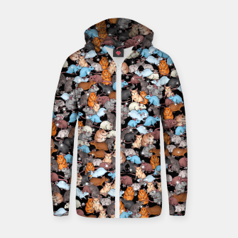 Thumbnail image of Winter mices Zip up hoodie, Live Heroes
