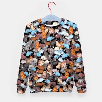 Miniature de image de Winter mices Kid's sweater, Live Heroes