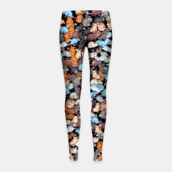 Miniature de image de Winter mices Girl's leggings, Live Heroes