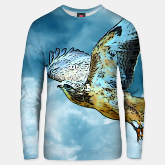 Thumbnail image of Falcon in the sky Unisex sweatshirt, Live Heroes