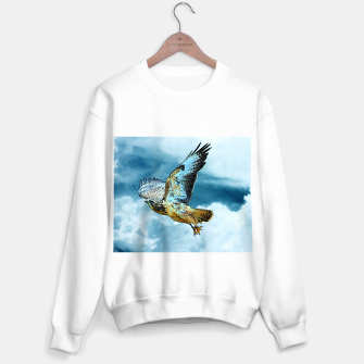 Thumbnail image of Falcon in the sky Sweatshirt regulär, Live Heroes