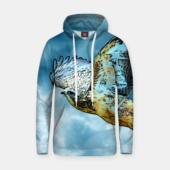 Thumbnail image of Falcon in the sky Kapuzenpullover, Live Heroes
