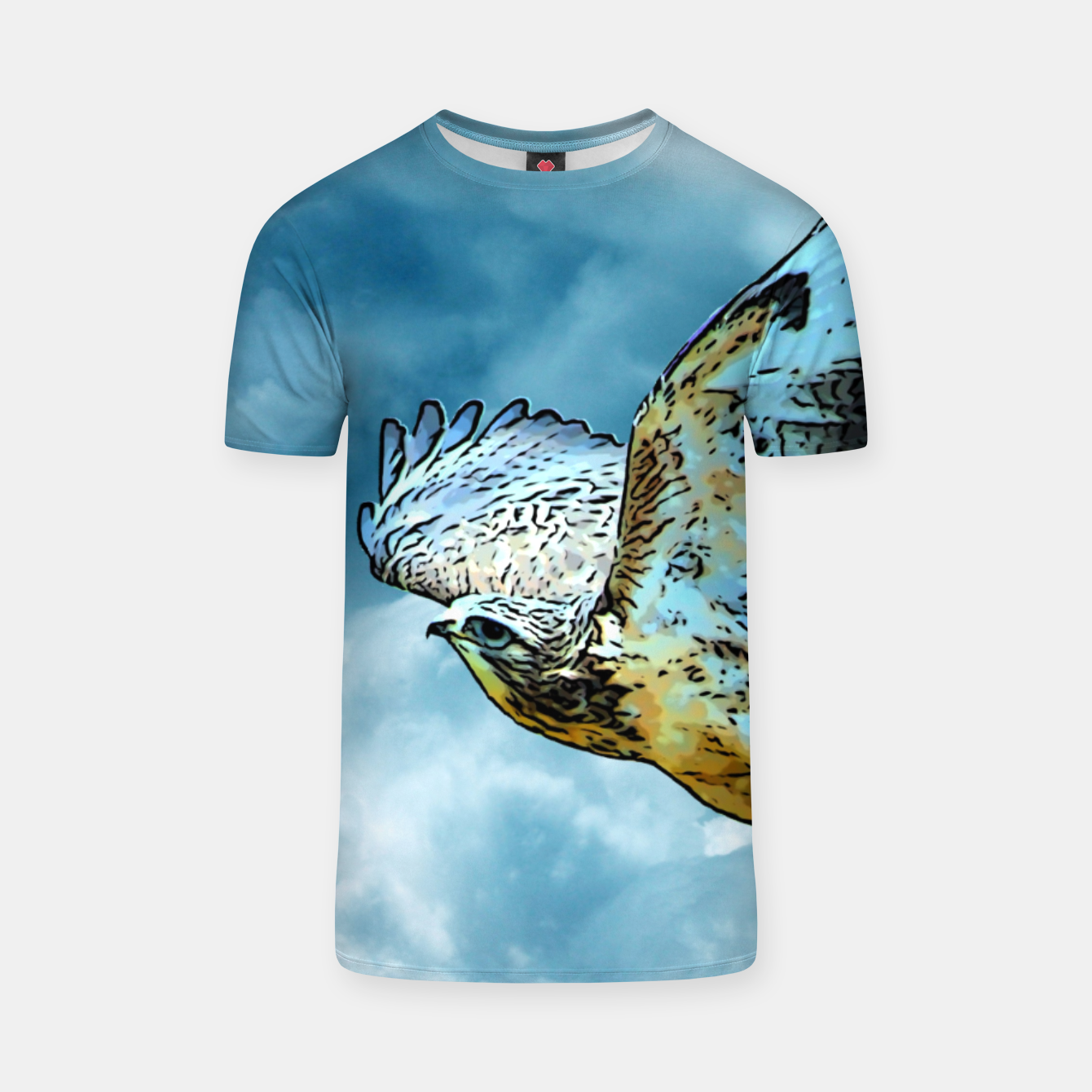 Image of Falcon in the sky T-Shirt - Live Heroes