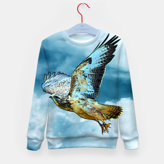 Thumbnail image of Falcon in the sky Kindersweatshirt, Live Heroes